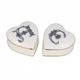 Heart shaped English Bone China trinket boxestrinket