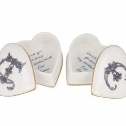 Heart shaped trinket boxes