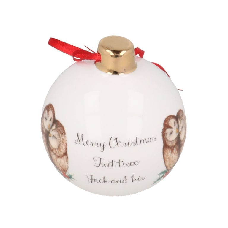 Twit Twoo Bauble