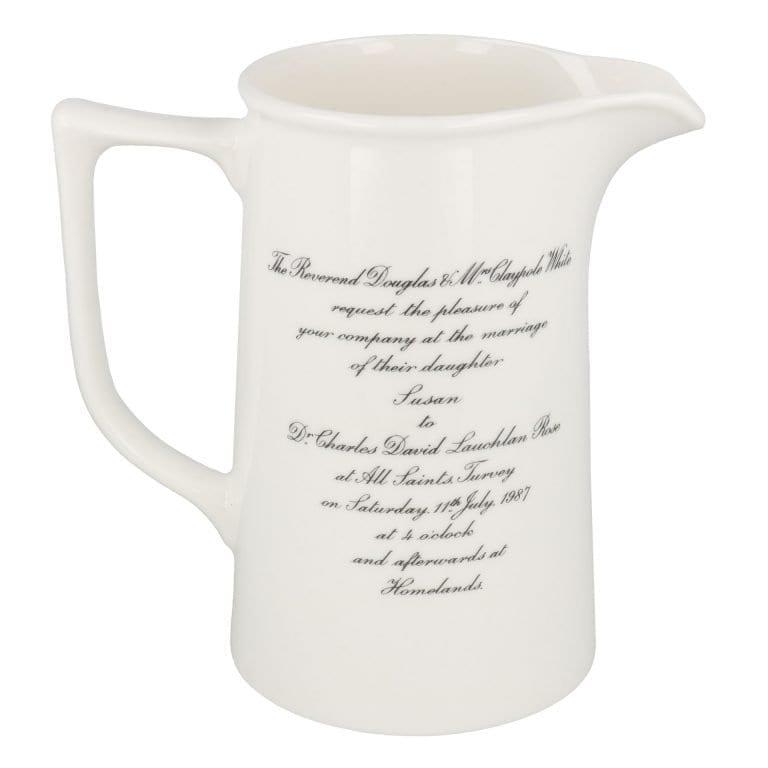 Two pint tankard jug with invitation