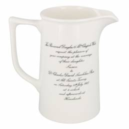 Two pint tankard jug with invitation