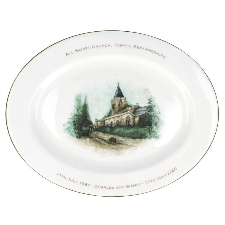Watercolour Oval Platter