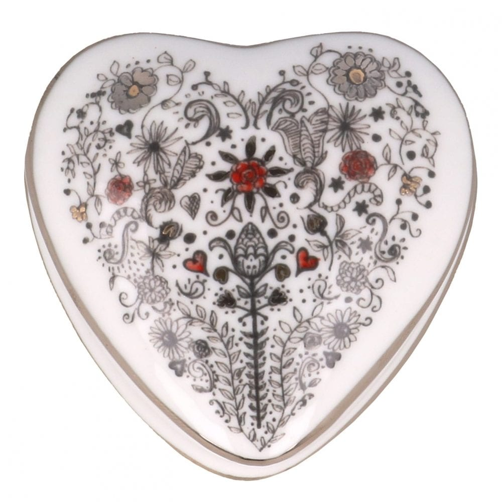 Heart shaped Marry me trinket box with heart design