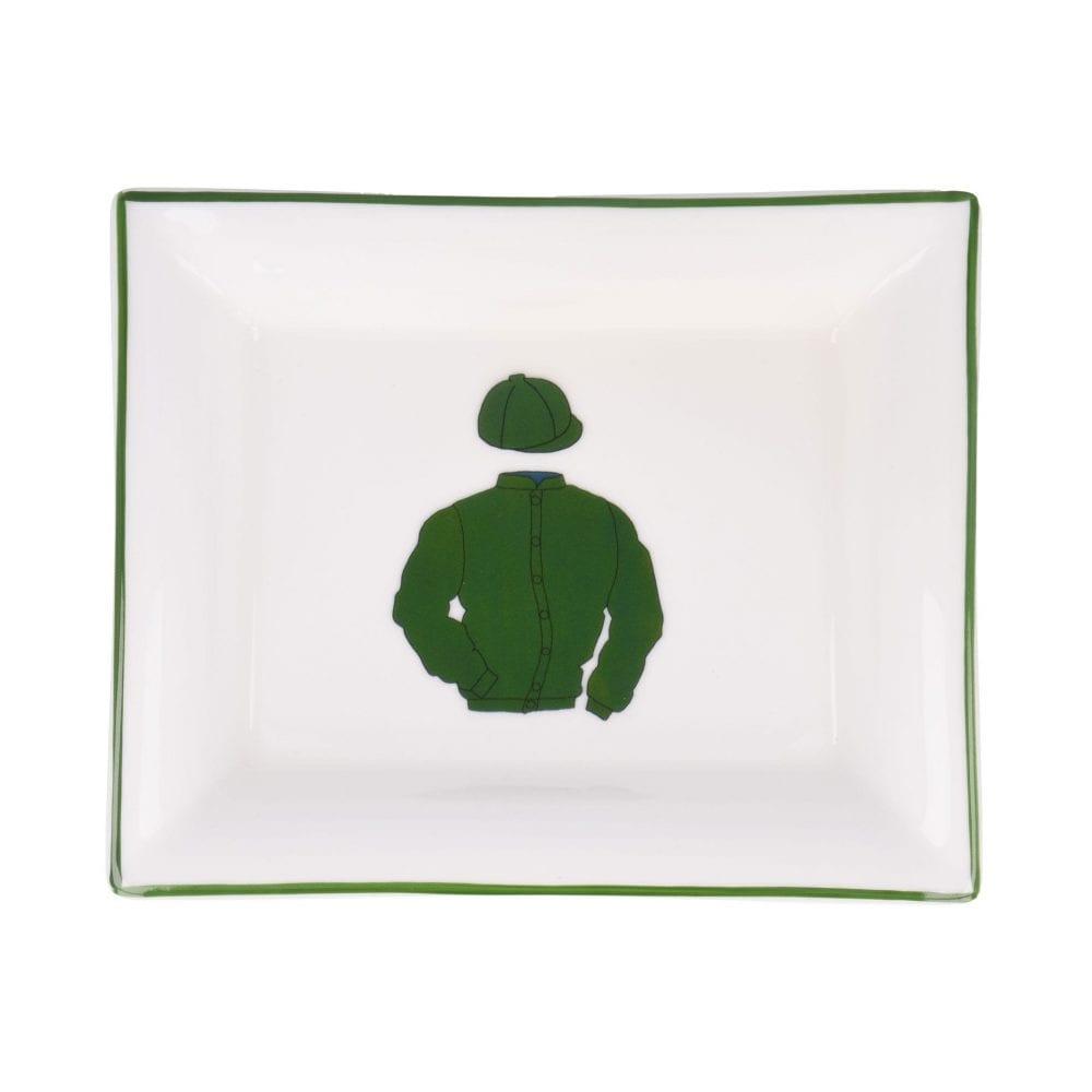 Horse Racing Green Dish