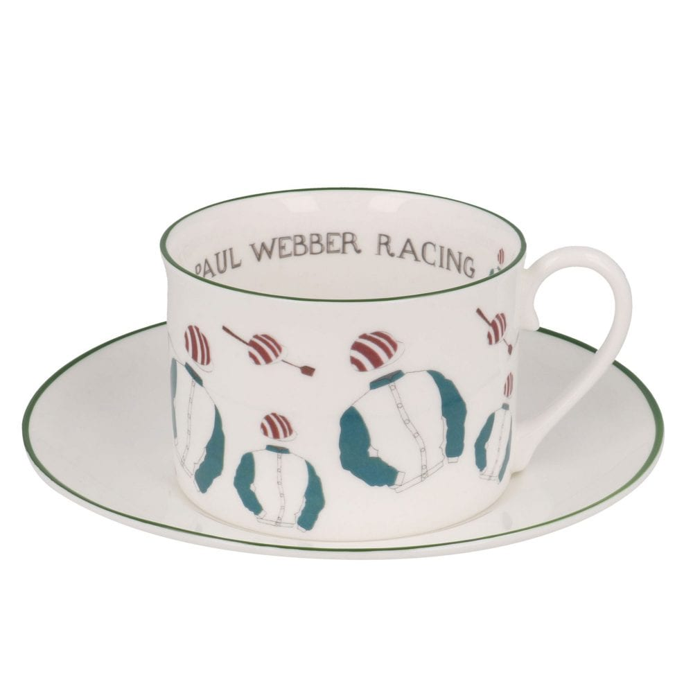 racing silks personalised cups and saucers