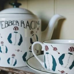 Racing Teapot and Teacup set