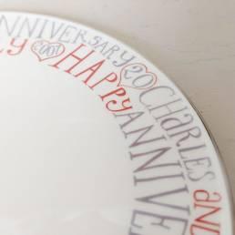 20th Wedding Anniversary Cake Plate