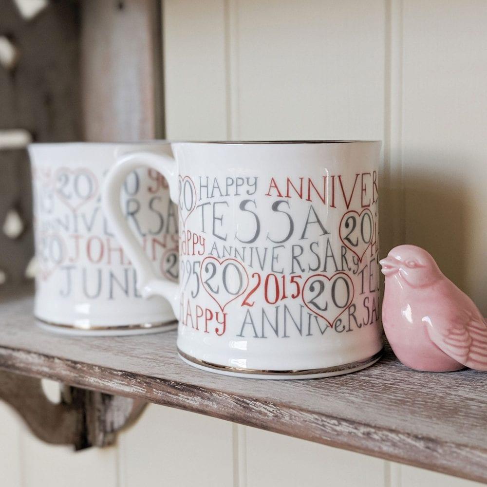 20th Wedding Anniversary Mugs