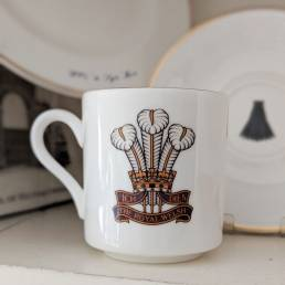 Regimental Coffee Cup and Saucer