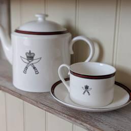 Regimental Teacup and Saucer