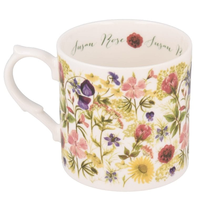 Summer flowers mug with personalisation