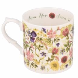Summer flowers mug with personalisation