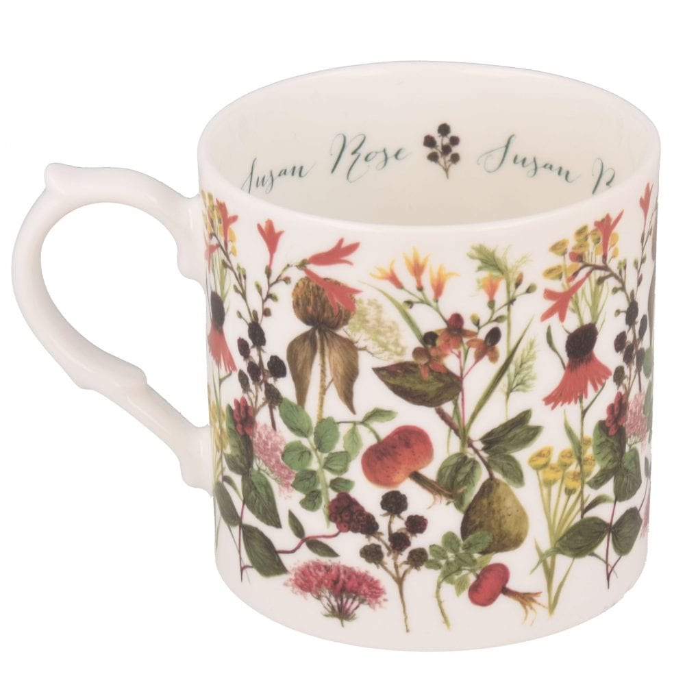 Autumn flowers mug with personalisation