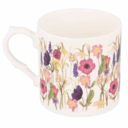 Spring Flowers mug with no personalisation handle on left