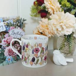 Spring flowers mug lifestyle shot