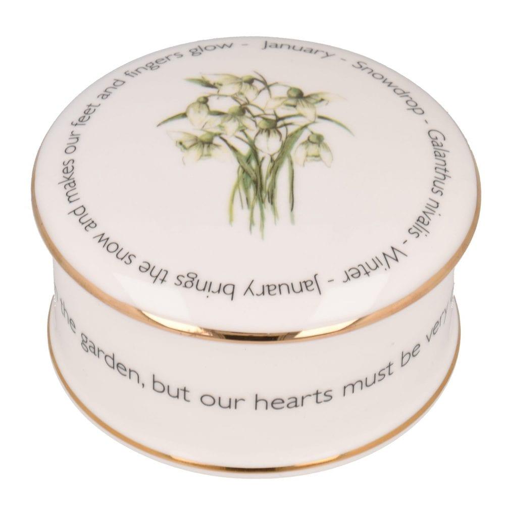Floral trinket box - January