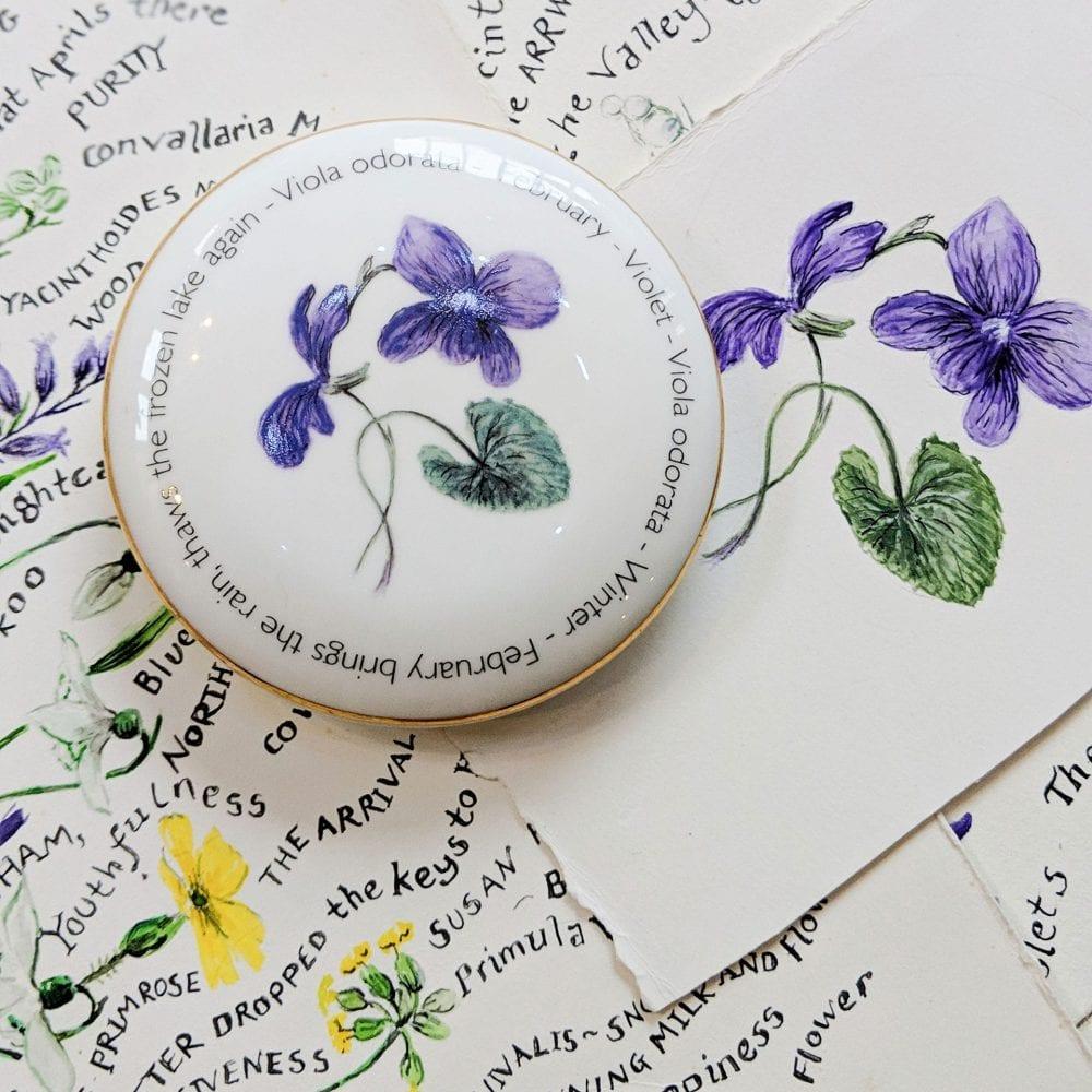 Floral Trinket box - February - lifestyle shot
