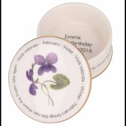 Floral Trinket box - February shown open