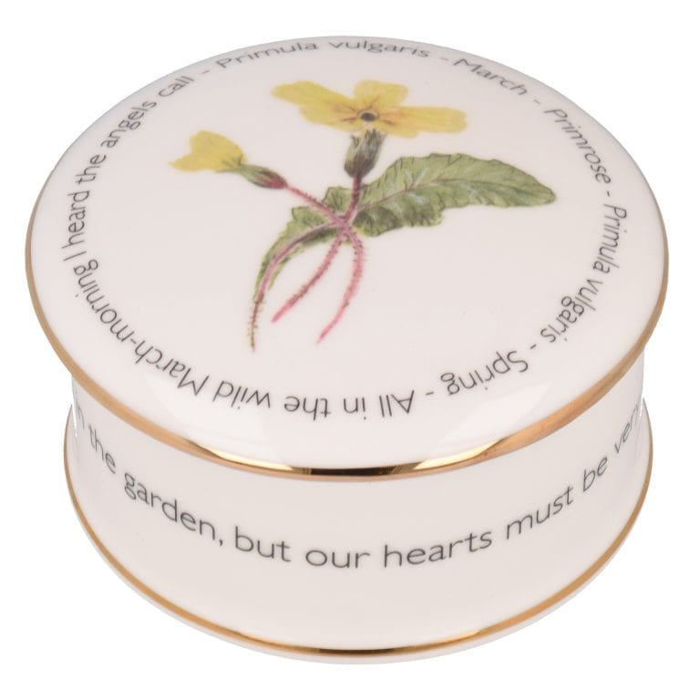 Floral Trinket box - March