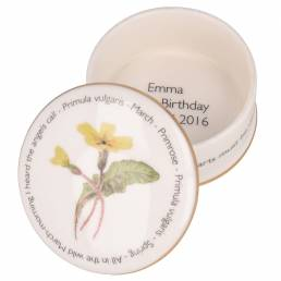 Floral Trinket box - March shown open