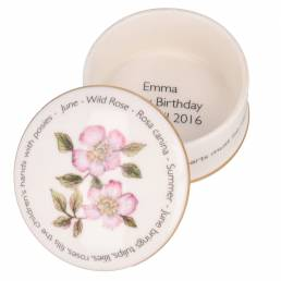 Floral Trinket box - June shown open