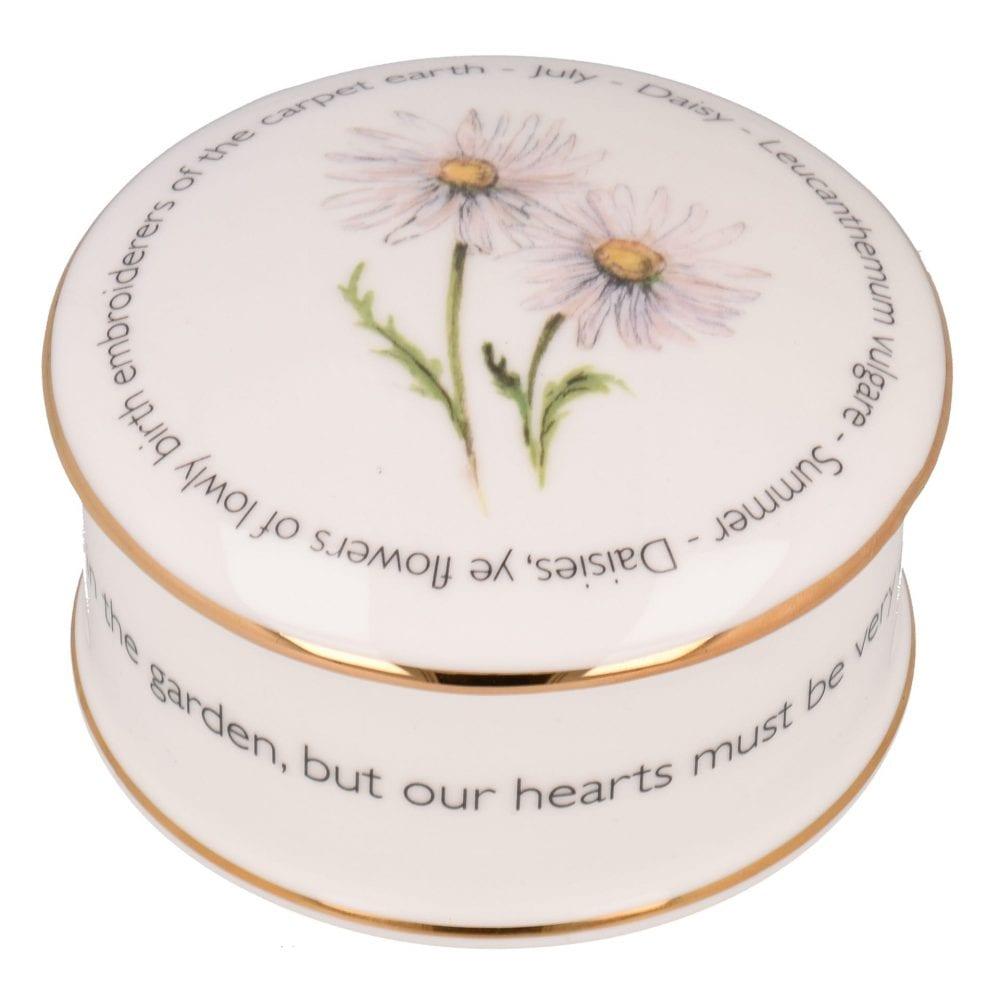 Floral Trinket box - July
