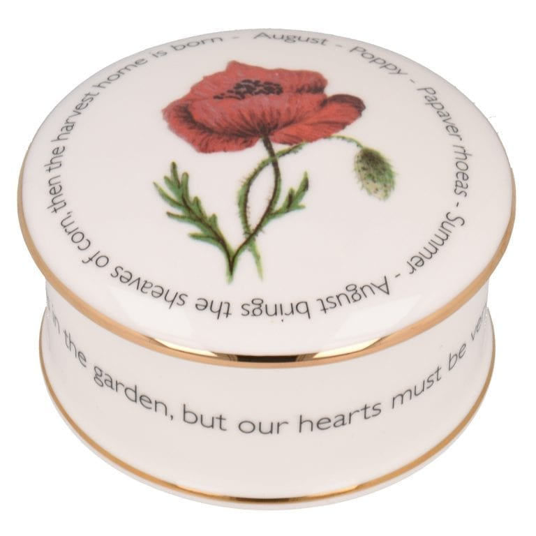 Floral Trinket box - August
