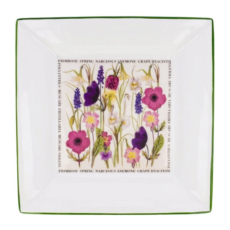 Floral Large Square Spring Dish