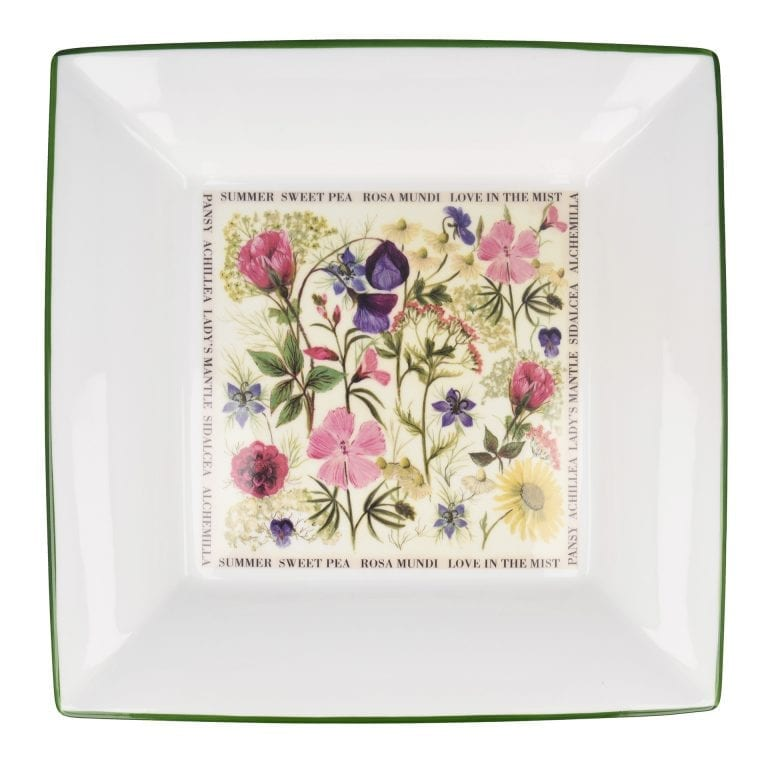 Floral Large Square Summer Dish