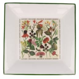 Floral large square dish autumn
