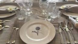 Pencil Drawing Plate in table setting