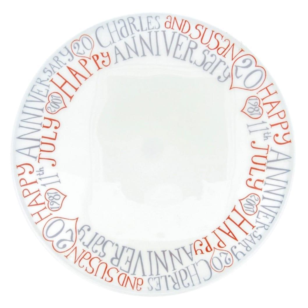 Wedding anniversary cake plate