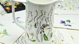 China Jug full of secrets with floral design