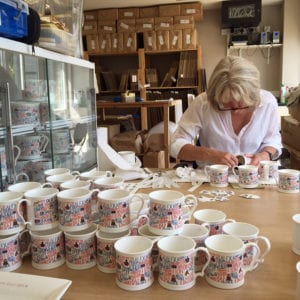Making mugs at Susan Rose China