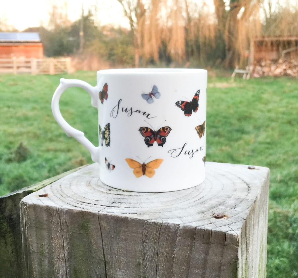 Animals Butterfly personalised mug