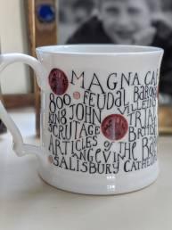 China mugs with personalisation – Magna carta mug full of history