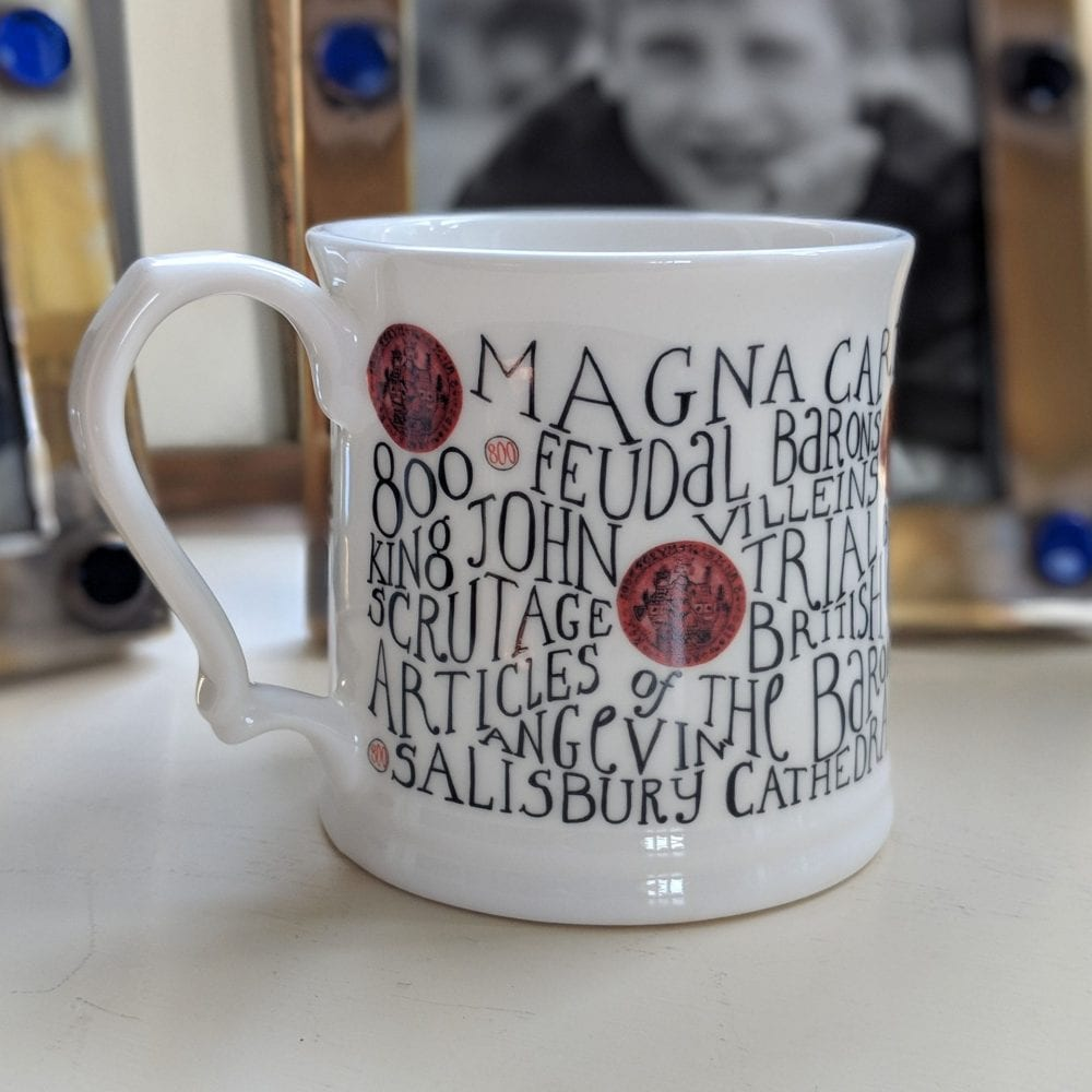 China mugs with personalisation – Magna carta mug full of history