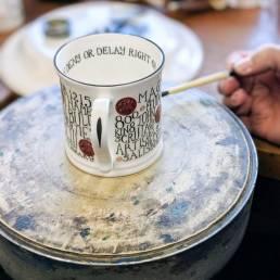 Magna carta mug being painted