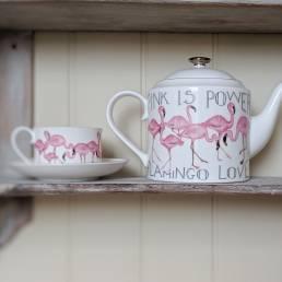 Flamingo Cup and Saucer