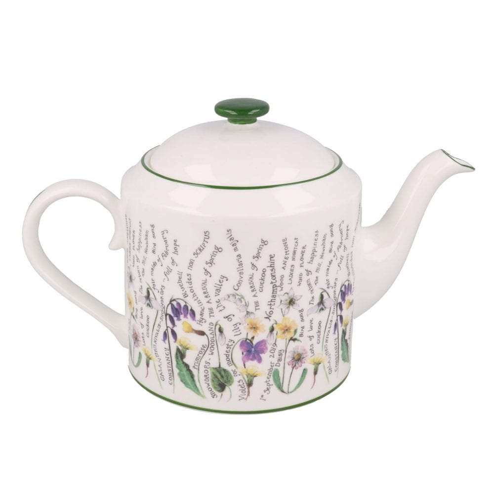 Floral teapot full of secrets