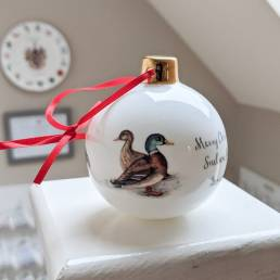 Personalised Game Birds Bauble