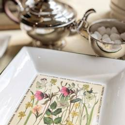 Floral Winter Square Dish