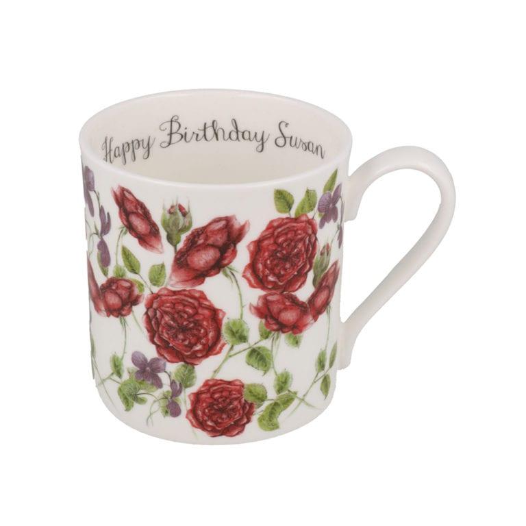 red roses mug