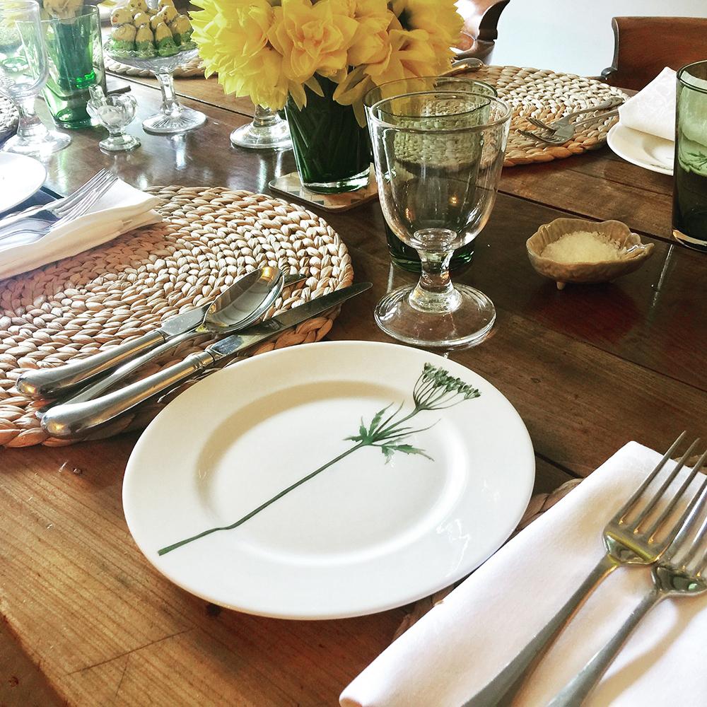 floral dinner service