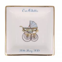 personalised china dish with pram