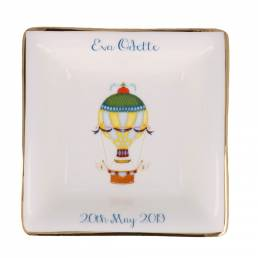 personalised china dish with balloon